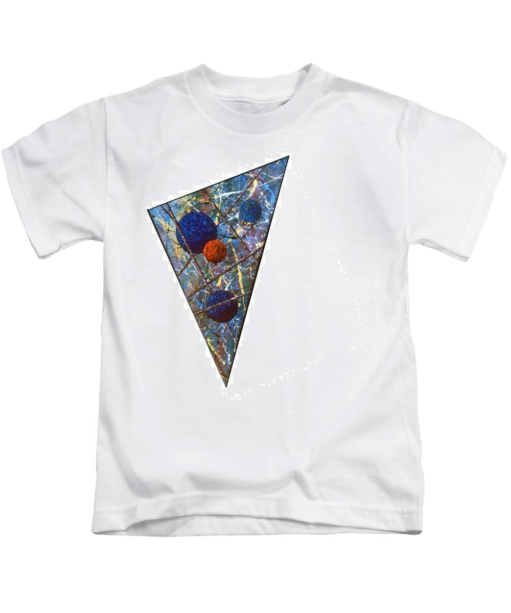 Abstract Kids T-Shirt featuring the painting Continuum 3 by Micah Guenther