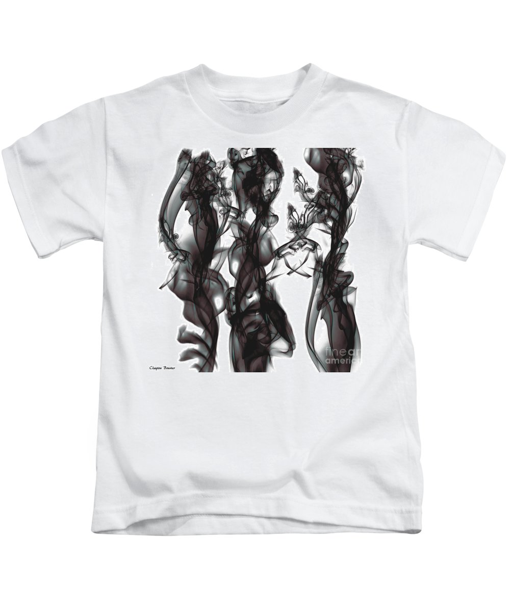 Clay Kids T-Shirt featuring the digital art Conversations by Clayton Bruster