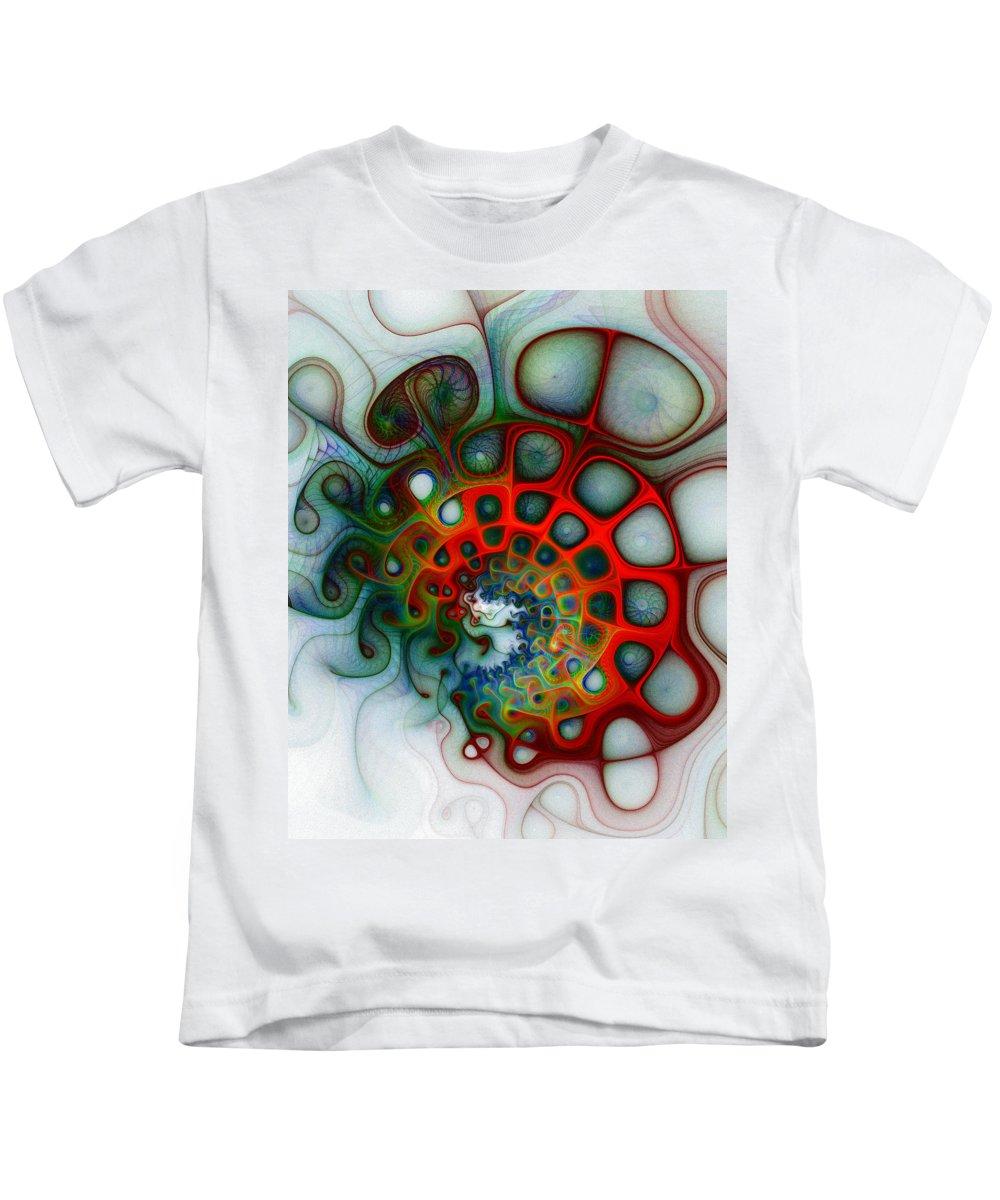 Digital Art Kids T-Shirt featuring the digital art Convolutions by Amanda Moore