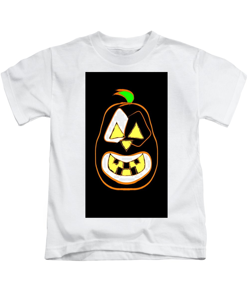 Halloween Kids T-Shirt featuring the digital art Cool Nic by Lewis Brown Jr