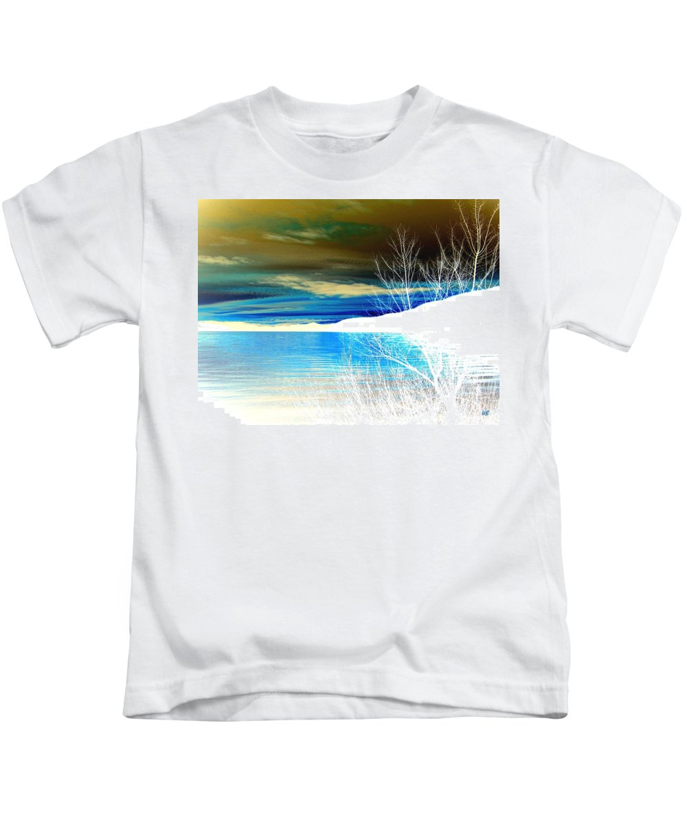 Winter Kids T-Shirt featuring the digital art Cool Waters by Will Borden