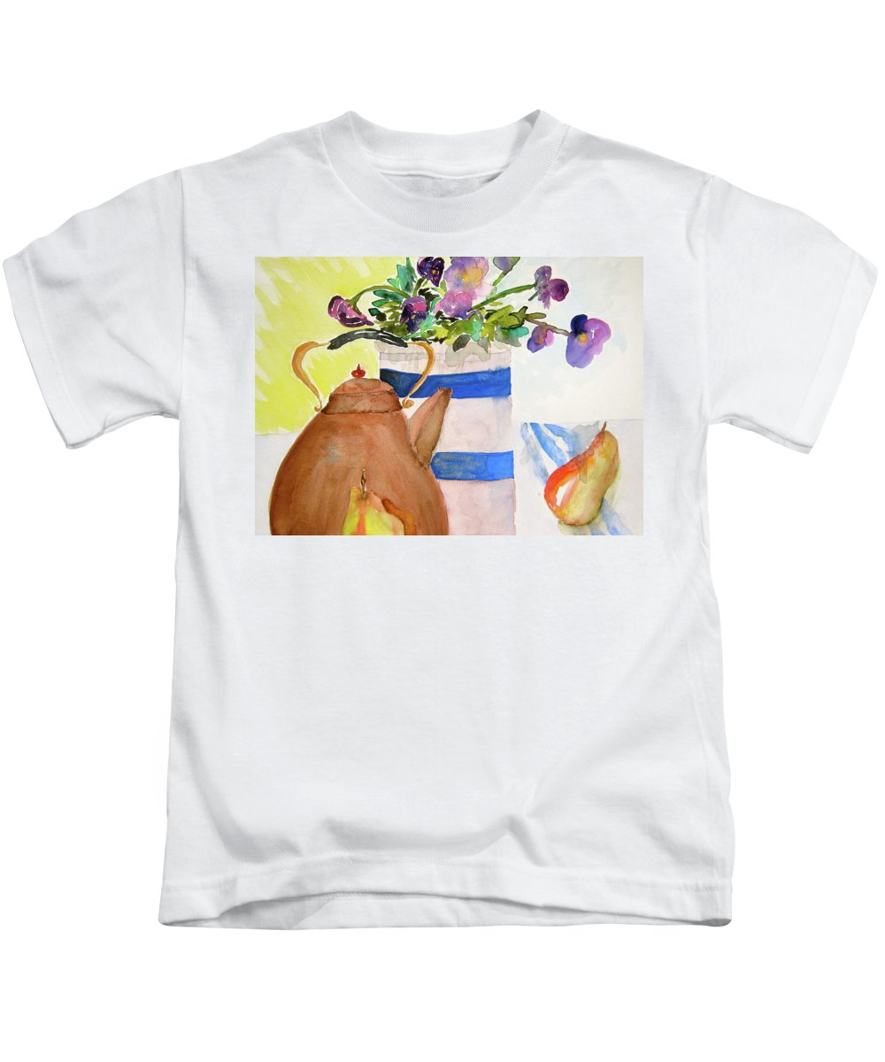 Copper Kids T-Shirt featuring the painting Copper Kettle by Beverley Harper Tinsley