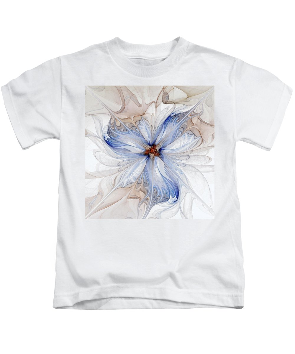 Digital Art Kids T-Shirt featuring the digital art Cornflower Blues by Amanda Moore