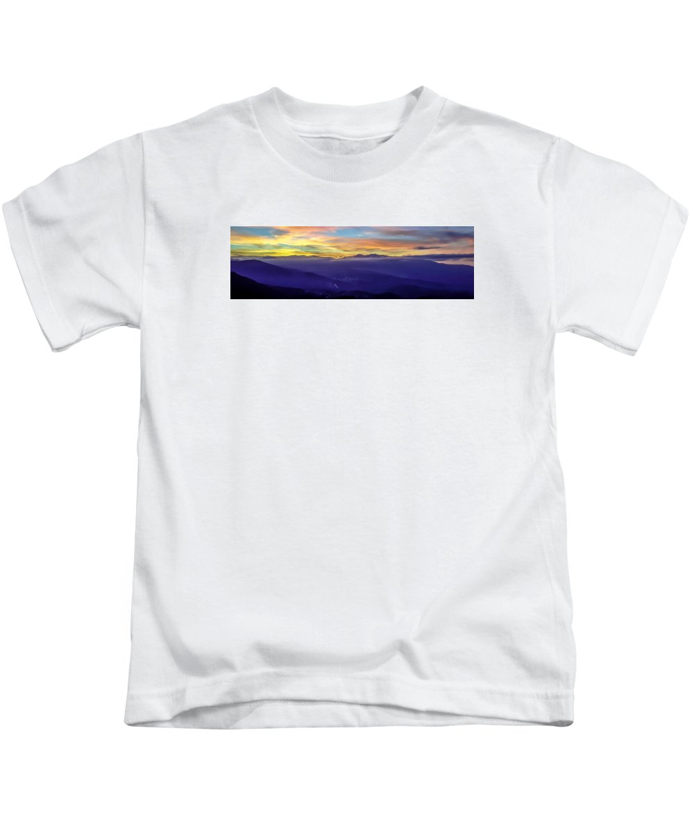 Corsica Kids T-Shirt featuring the photograph Corsican Sunset by Jim Collier