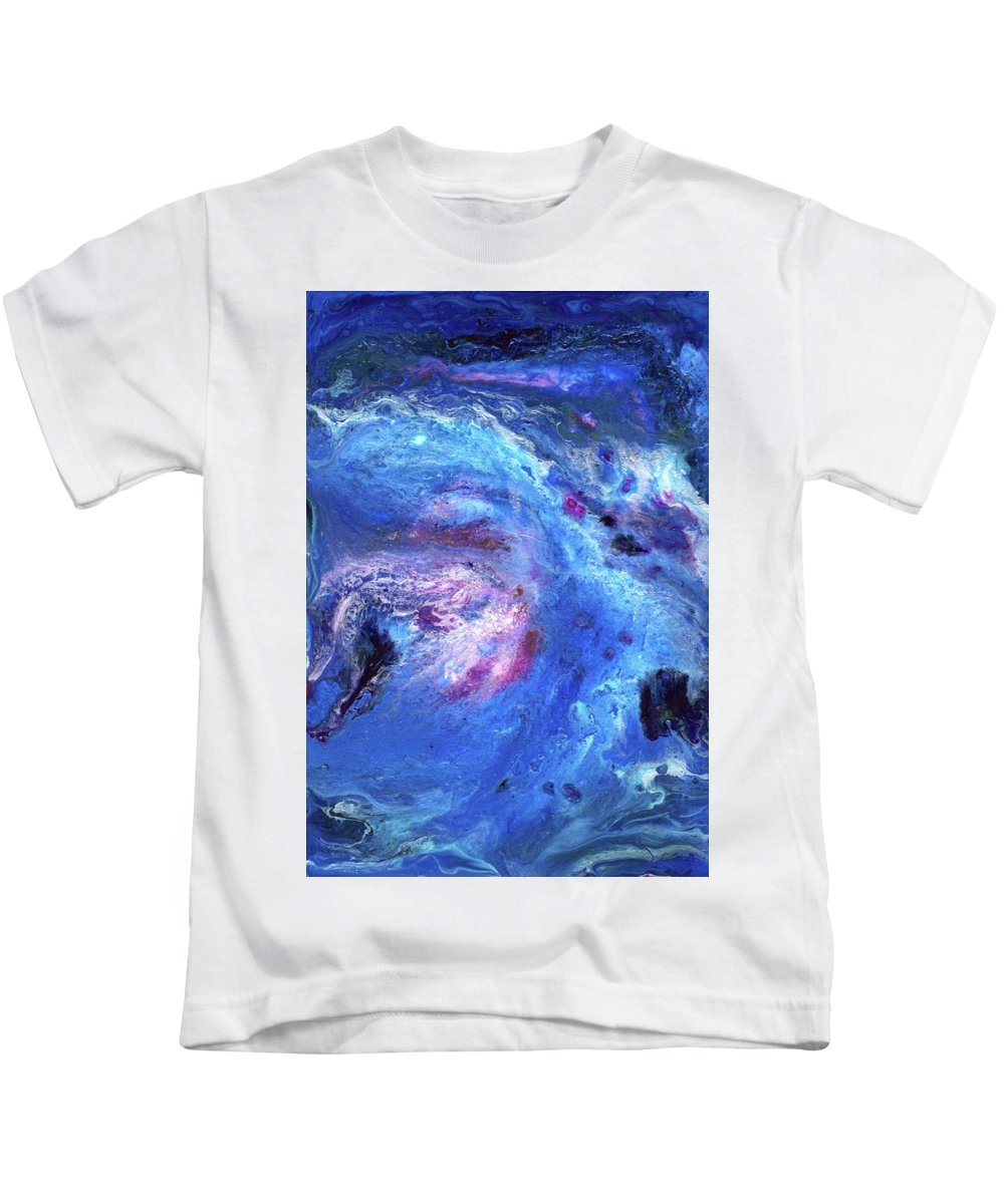 Abstract Kids T-Shirt featuring the painting Cosmic Ocean 4 by Craig Imig