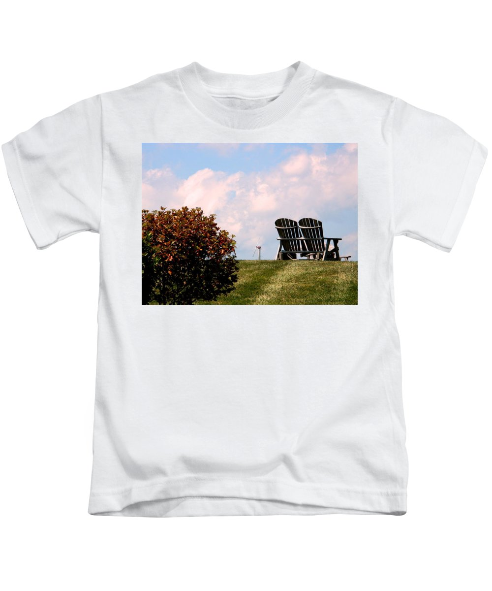 Hometown Kids T-Shirt featuring the photograph Country Life - Evening Relaxation by Arlane Crump