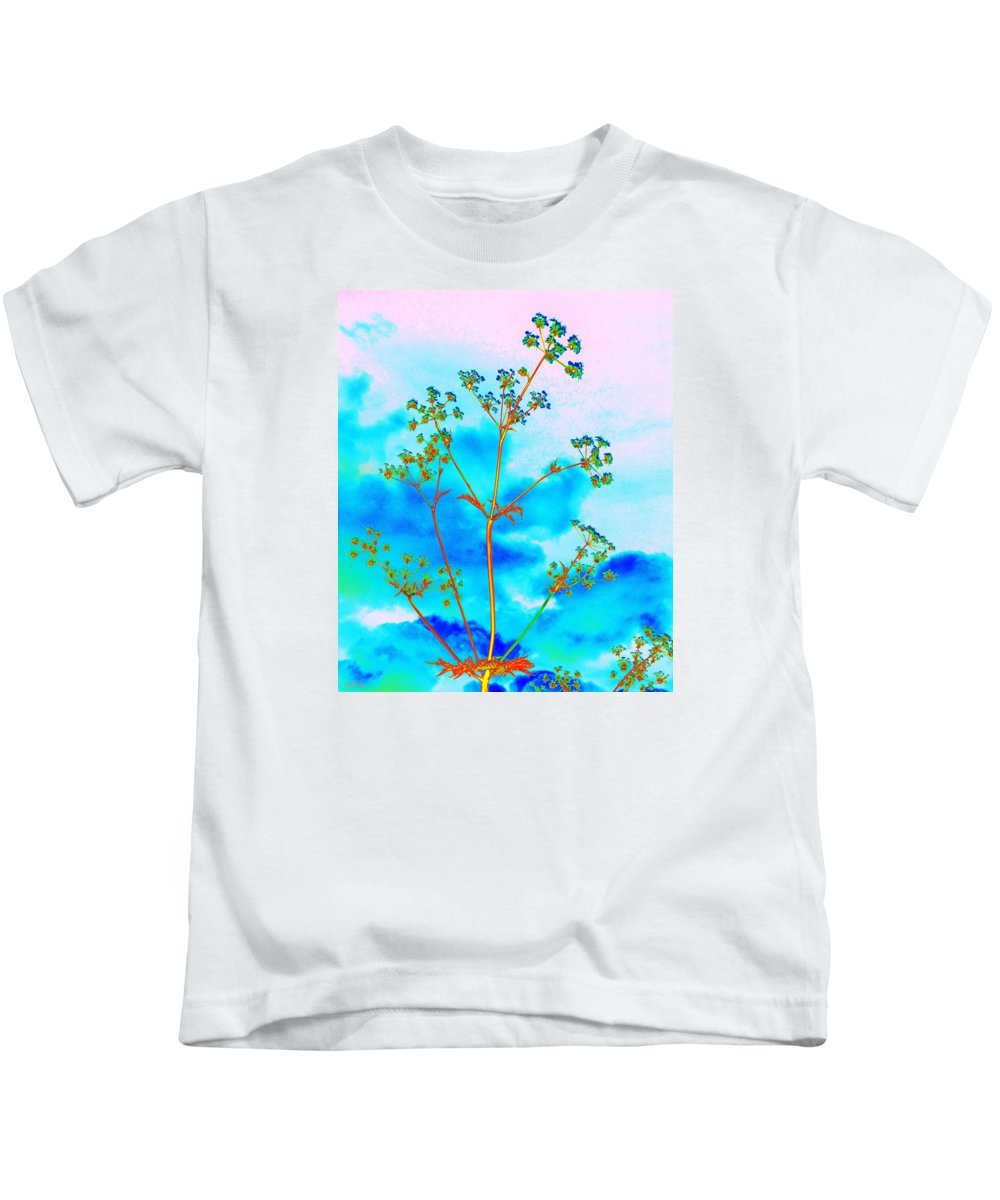 Cow Parsley Blossom 2 Kids T-Shirt featuring the digital art Cow Parsley Blossom 2 by Martine Murphy