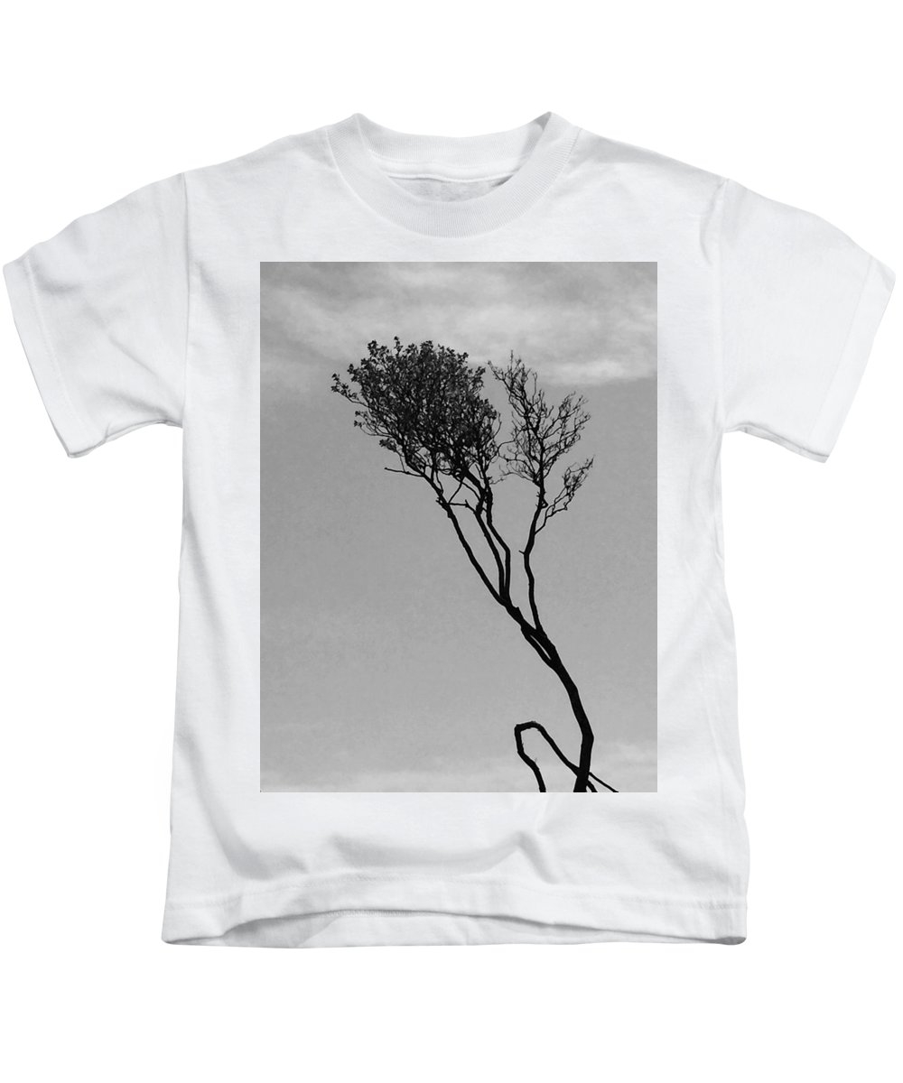 Landscape Kids T-Shirt featuring the photograph Crooked Tree by David Martin Stevens