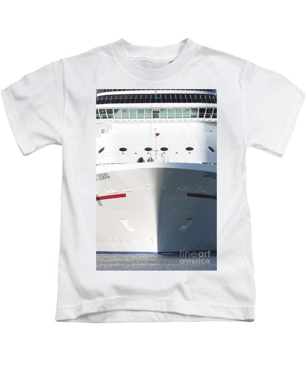 Cruise Ship Kids T-Shirt featuring the photograph Cruise On by Carol Groenen