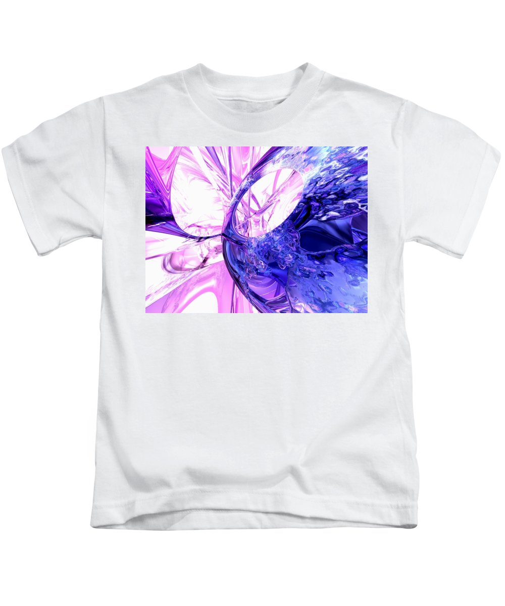 3d Kids T-Shirt featuring the digital art Crystallized Abstract by Alexander Butler
