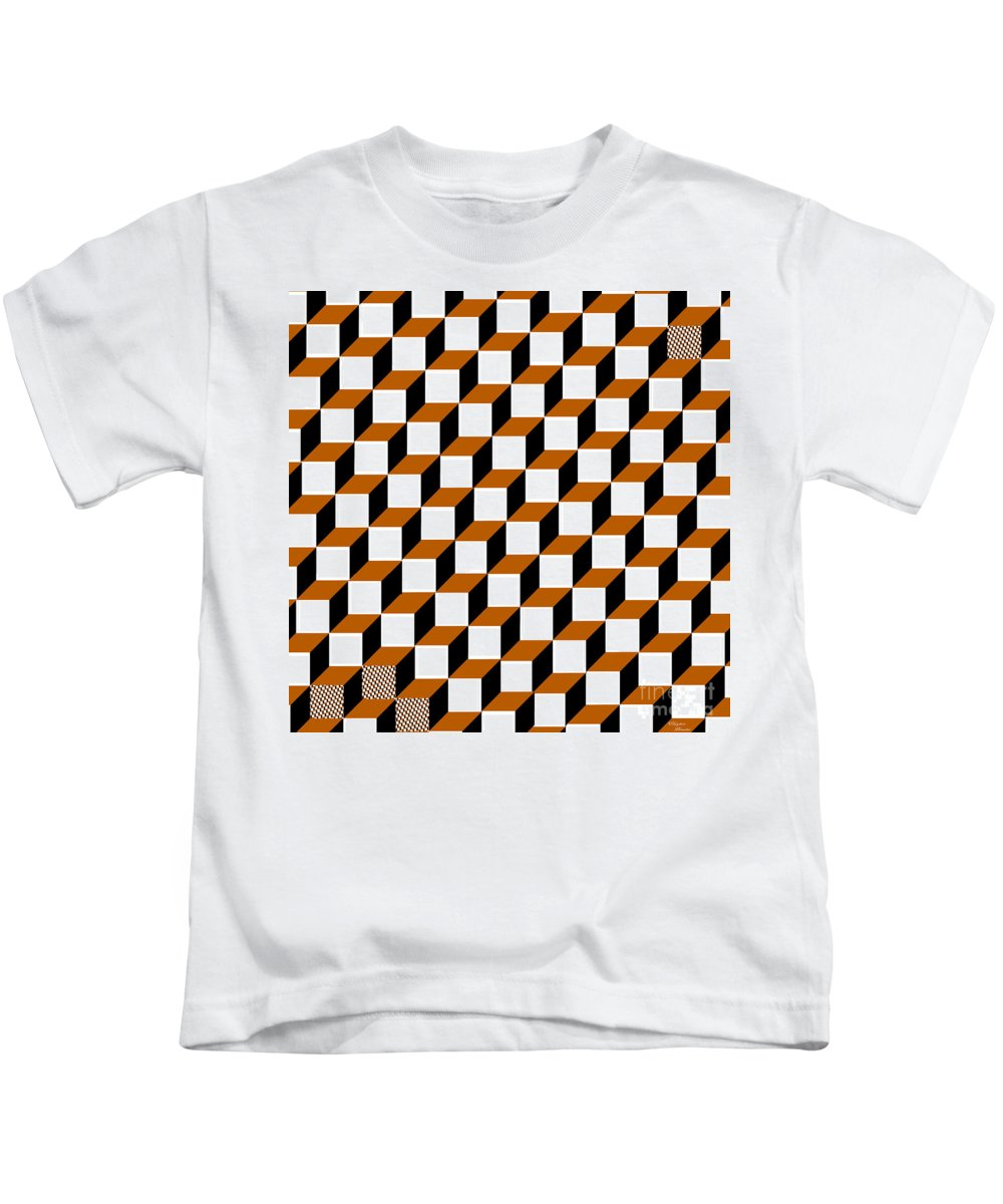 Clay Kids T-Shirt featuring the digital art Cubism Squared by Clayton Bruster