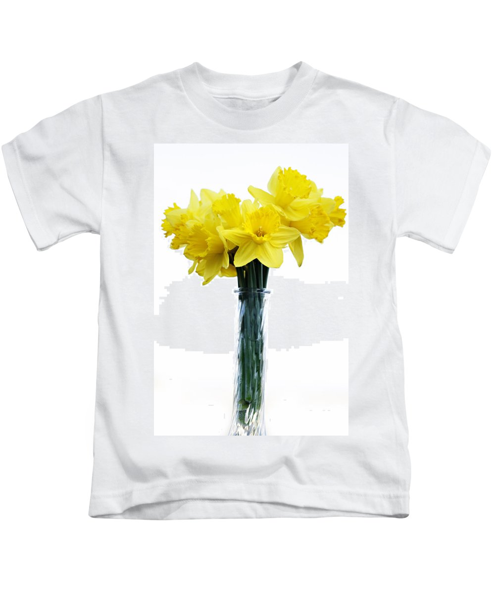 Daffodil Kids T-Shirt featuring the photograph Daffodil by Marilyn Hunt