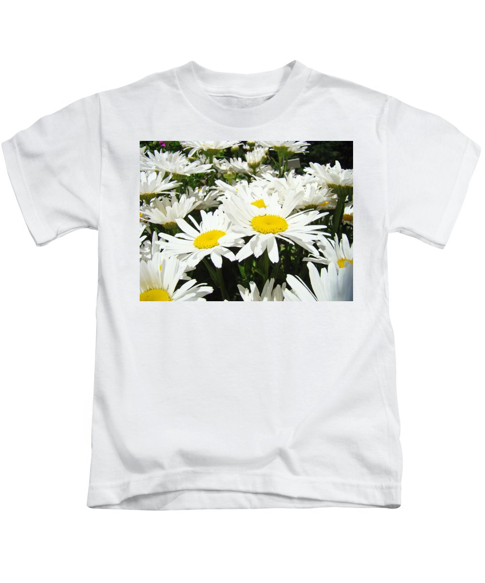 Daisy Kids T-Shirt featuring the photograph Daisies Floral Landscape Art Prints Daisy Flowers Baslee Troutman by Baslee Troutman