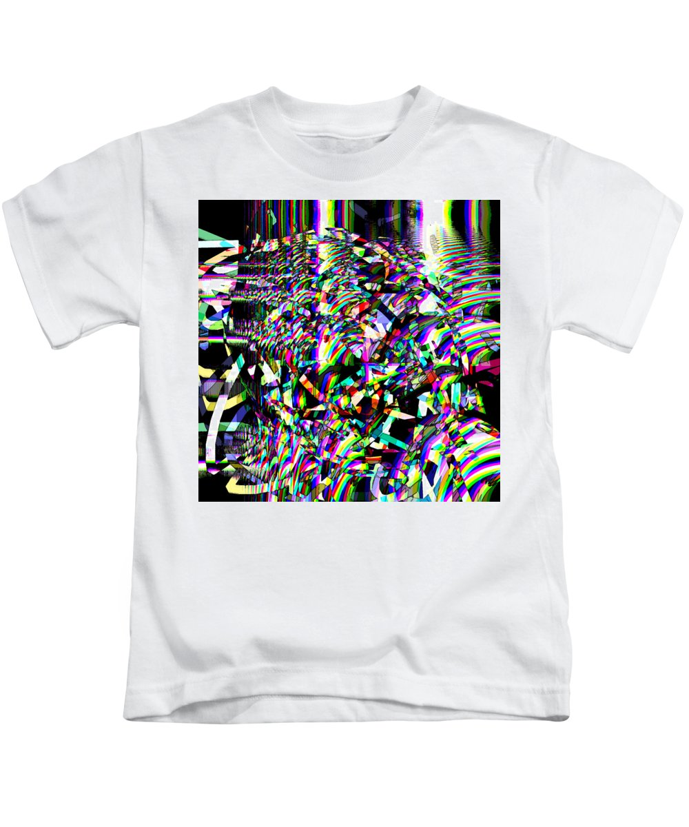 Abstract Kids T-Shirt featuring the digital art Damage by Blind Ape Art