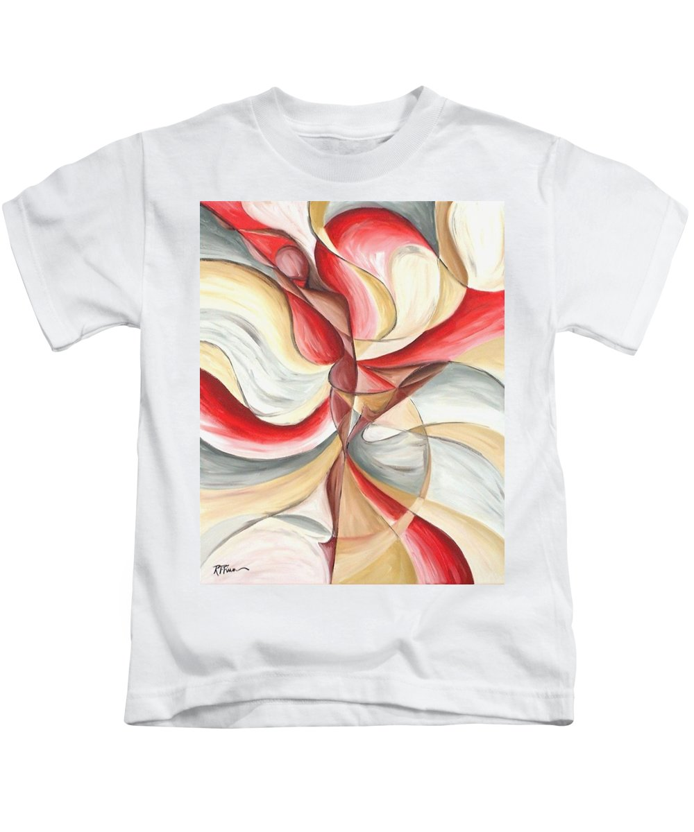 Figure Kids T-Shirt featuring the painting Dancer II by Rowena Finn