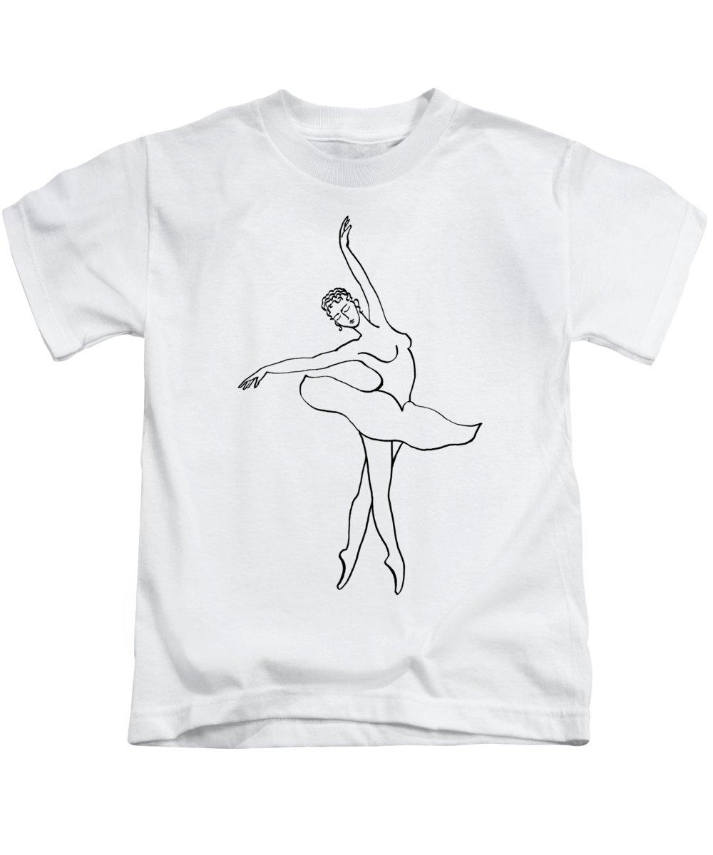 ca1c72743 Dancing Ballerina Silhouette Kids T-Shirt for Sale by Irina Sztukowski
