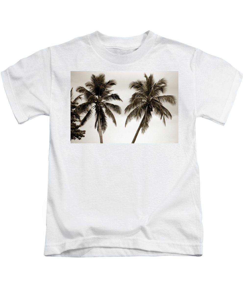 Palms Kids T-Shirt featuring the photograph Dancing Palms by Susanne Van Hulst