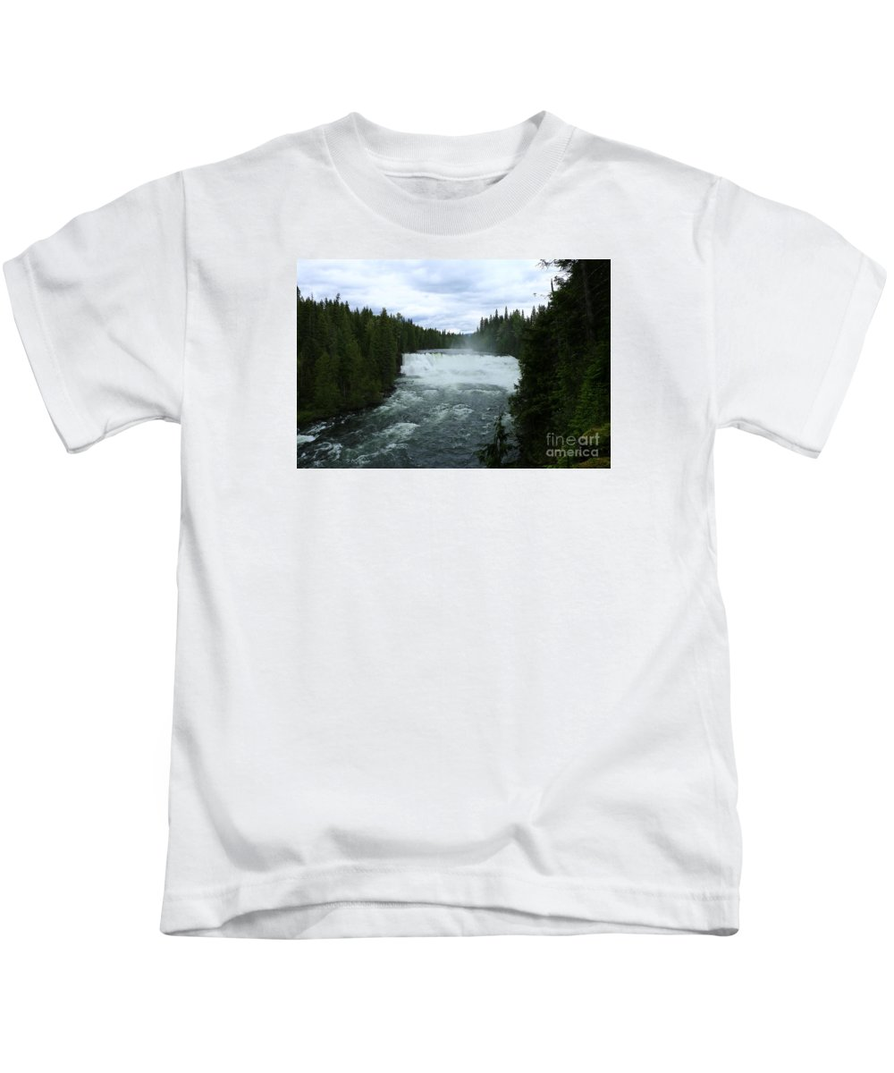 Dawson Kids T-Shirt featuring the photograph Dawson Falls by Christiane Schulze Art And Photography
