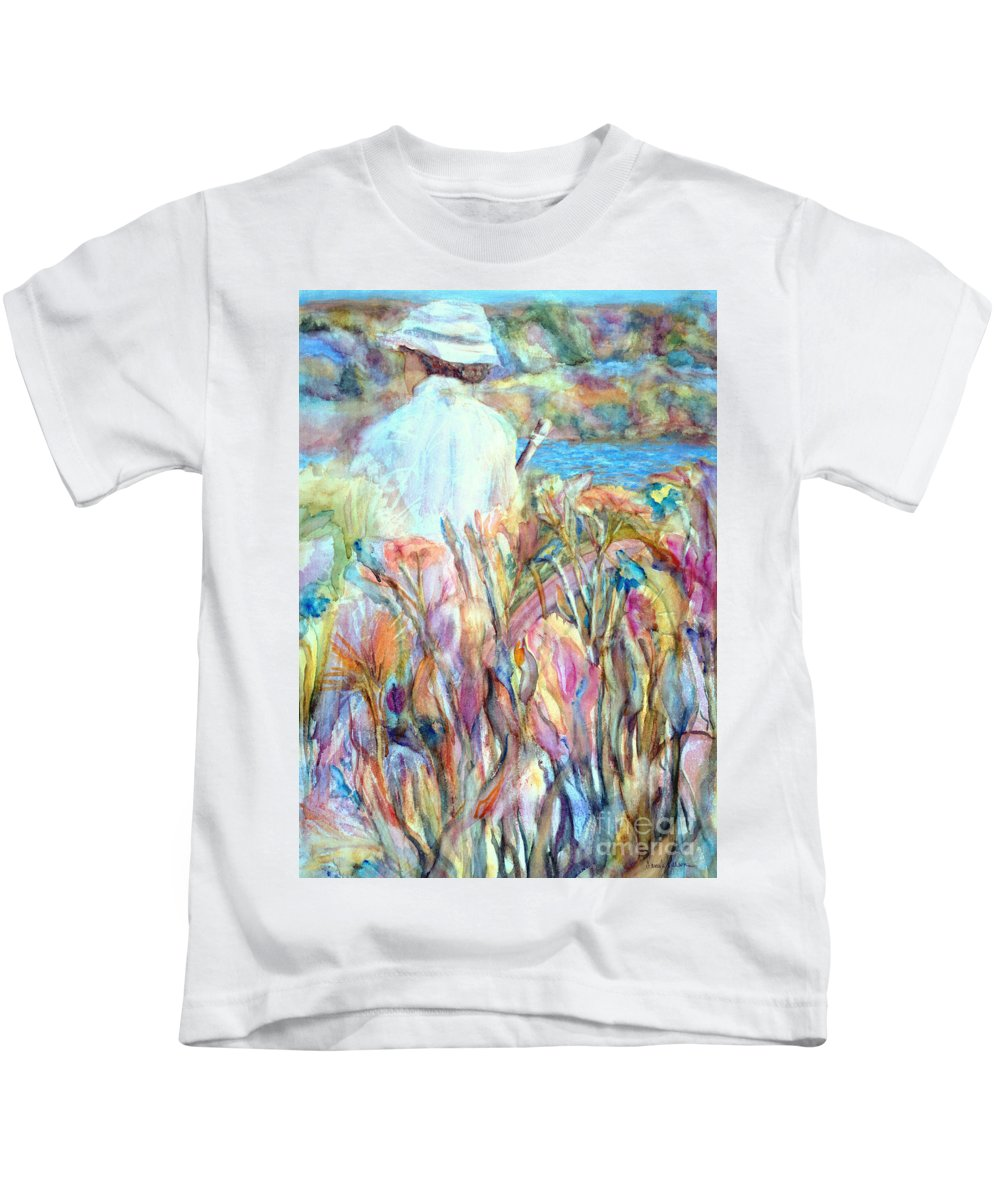 Daydream Kids T-Shirt featuring the painting Daydream by Pamela Parsons