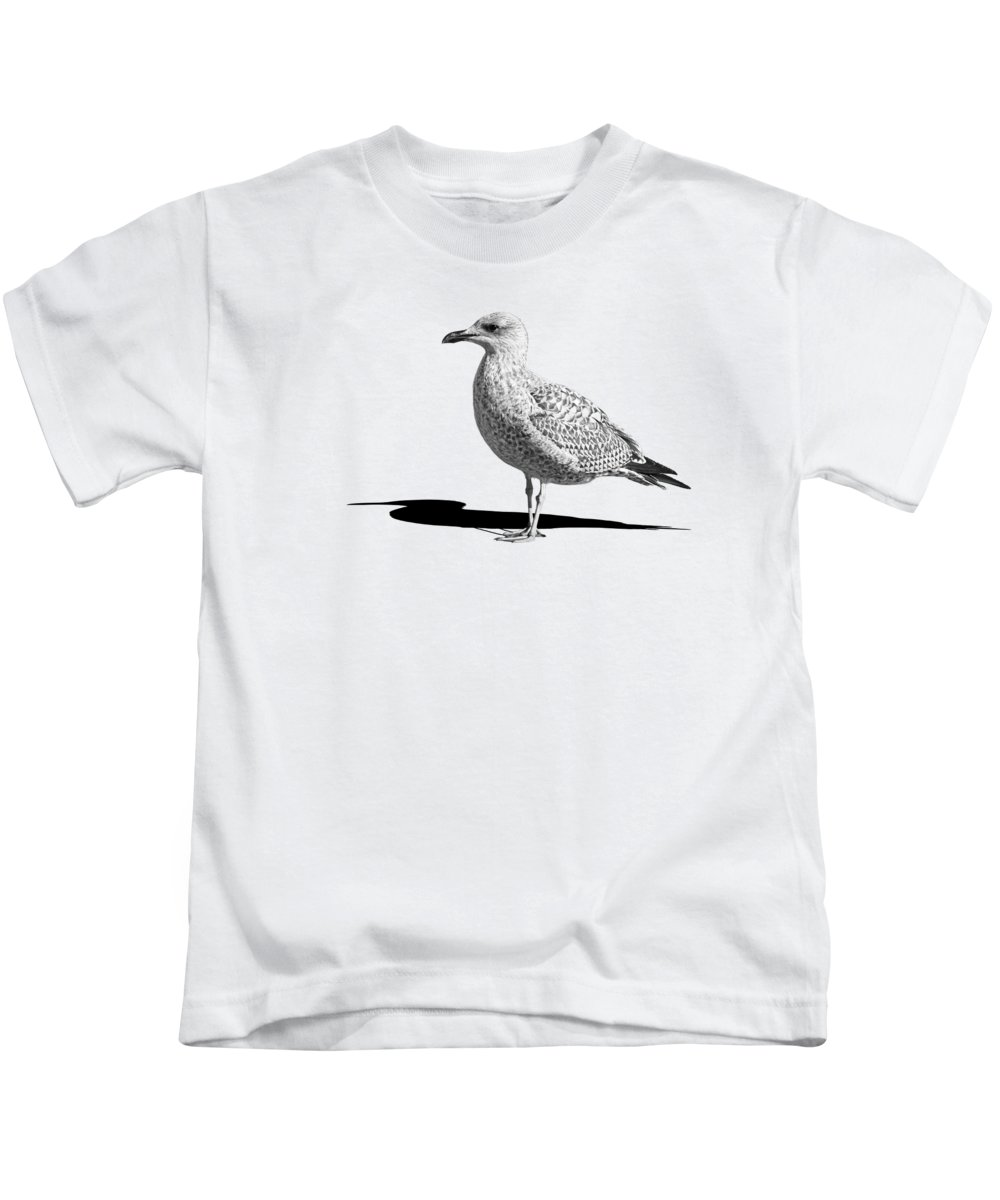 Coastal Scene Kids T-Shirt featuring the photograph Daydreaming In Black And White by Gill Billington