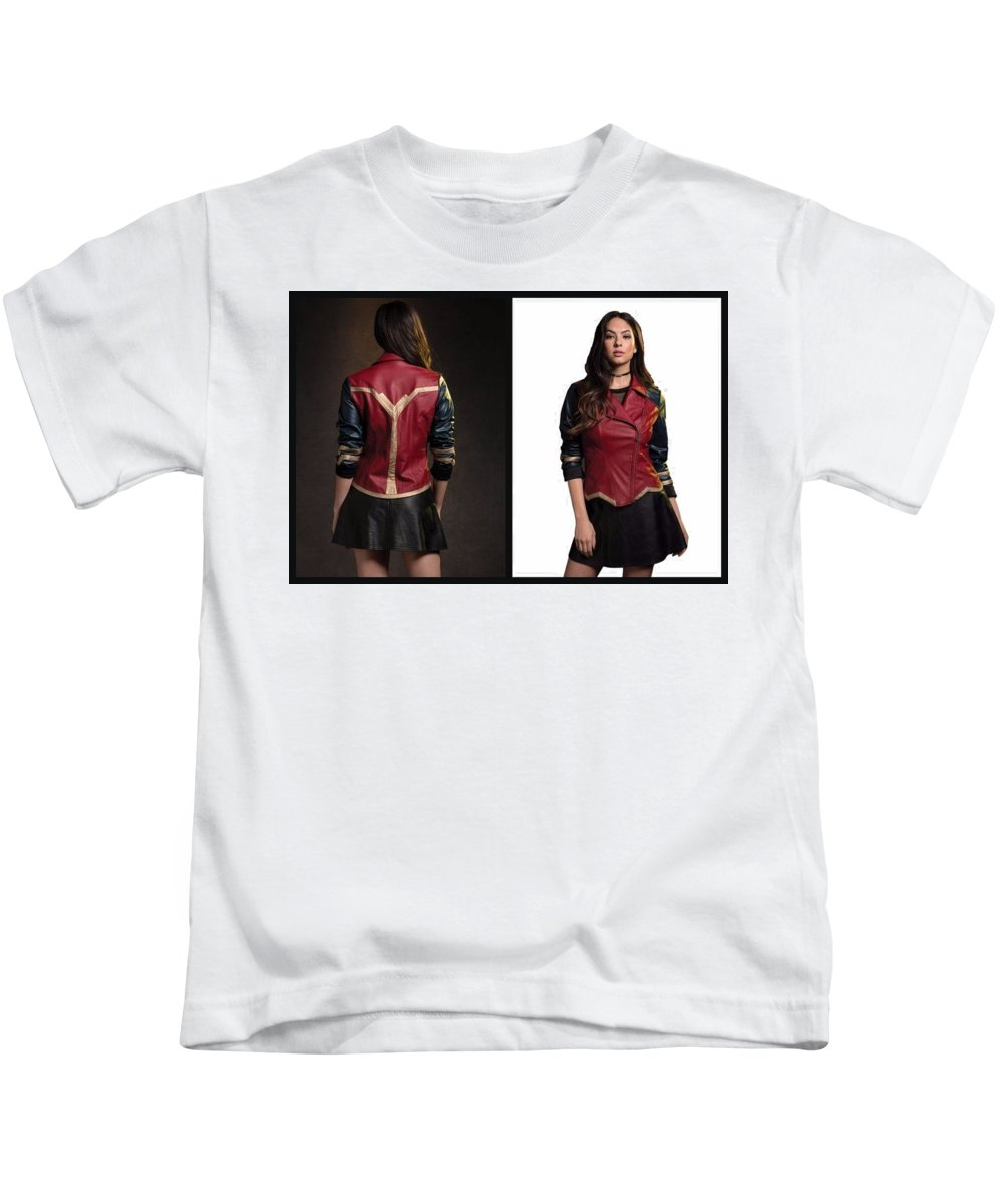 Dc Comics Wonder Woman Jacket Kids T-Shirt featuring the photograph Dc Comics Wonder Woman Jacket by DC Comics Wonder Woman Jacket