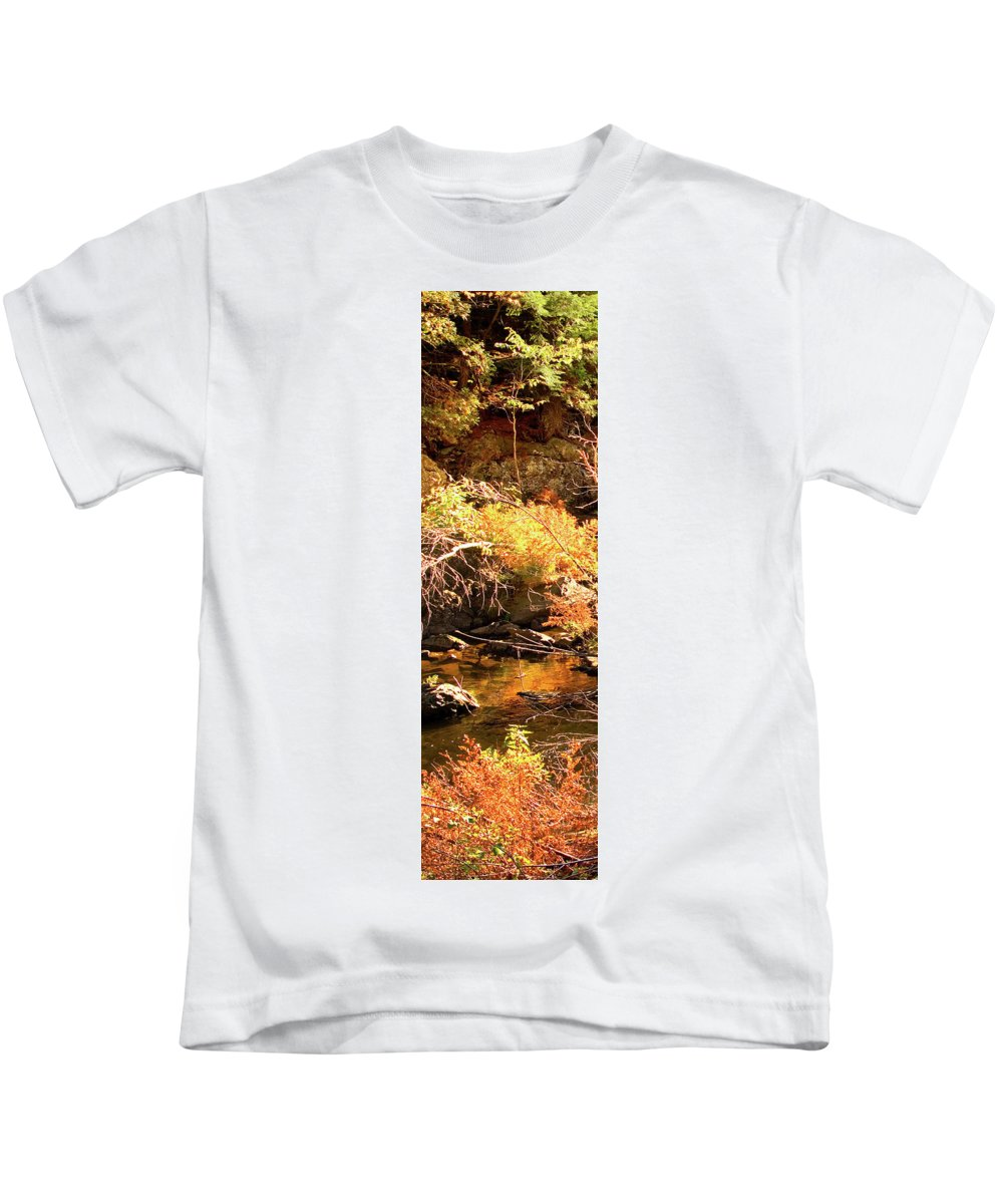 Dead River Falls Kids T-Shirt featuring the photograph 2 Of 6 Dead River Falls Marquette Michigan Section by Michael Bessler