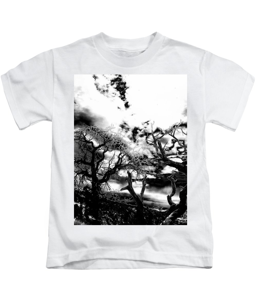 Tree Kids T-Shirt featuring the photograph Deadwood by Charleen Treasures