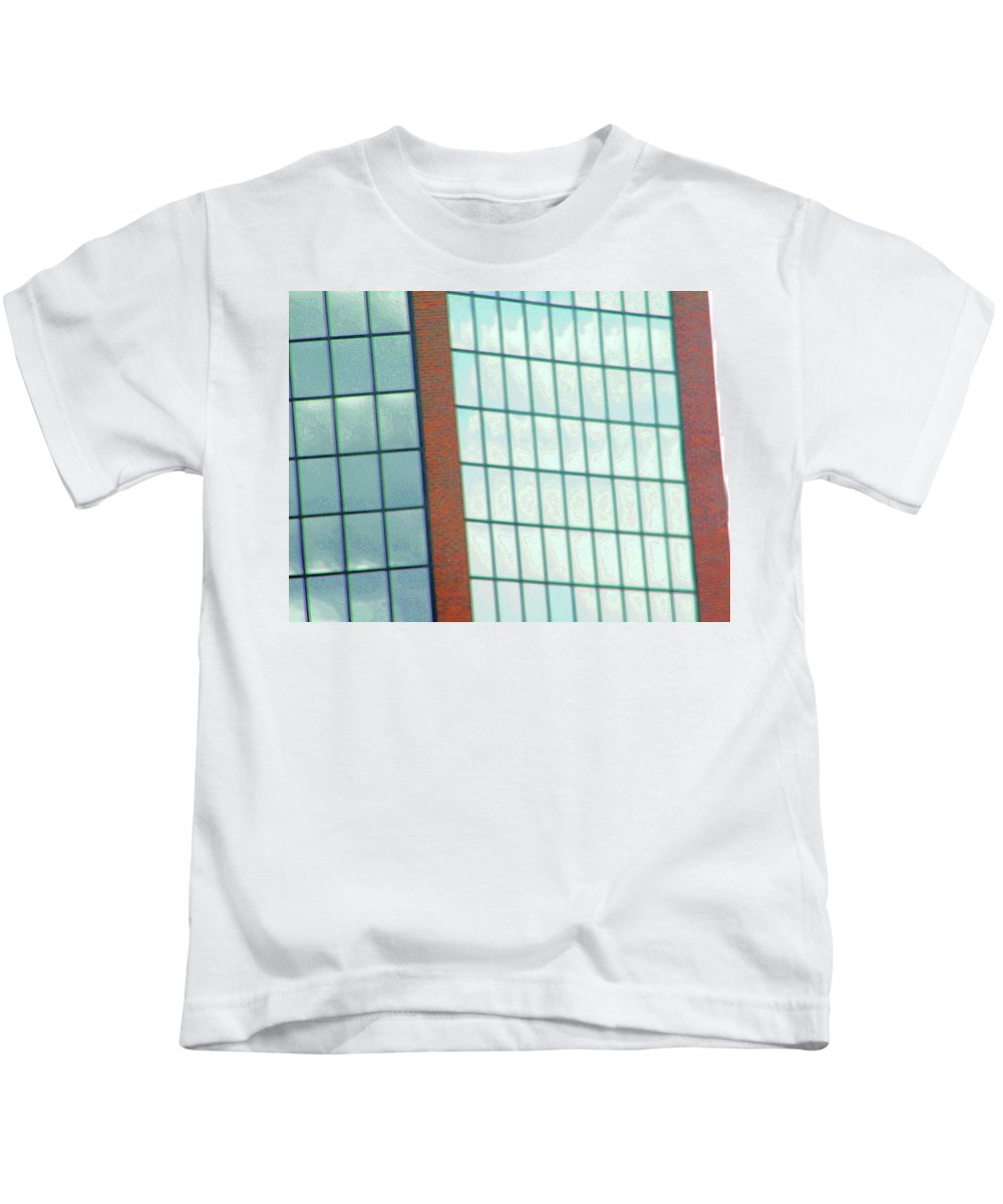 Abstract Kids T-Shirt featuring the photograph Denver Clouds by Lenore Senior