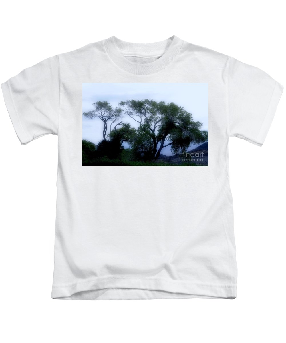 Death Kids T-Shirt featuring the photograph Desert At Night by Kathleen Struckle