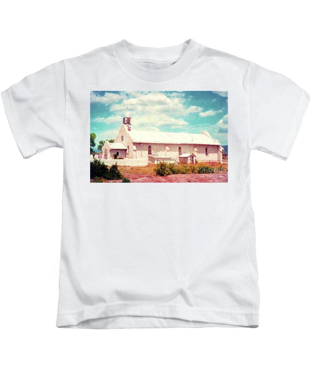 Chapel Kids T-Shirt featuring the photograph Desert Chapel by Desiree Paquette