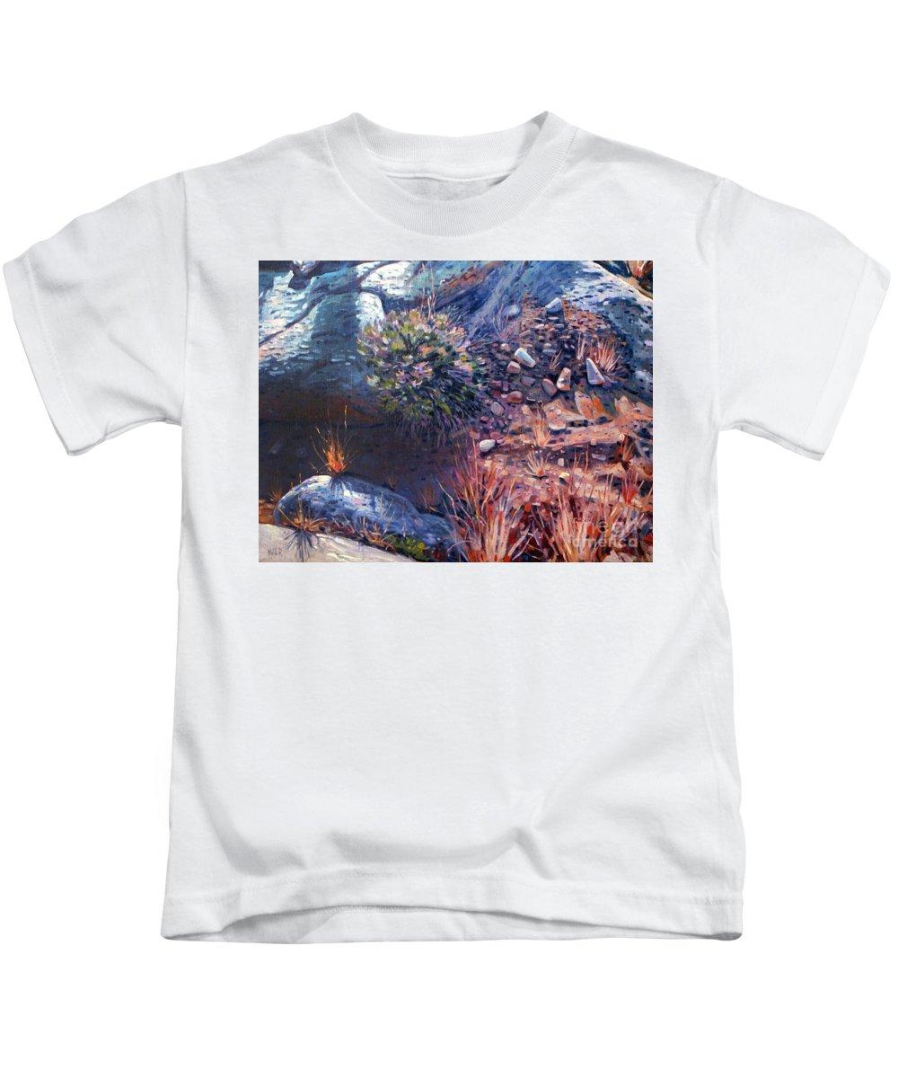 Desert Kids T-Shirt featuring the painting Desert Floor by Donald Maier