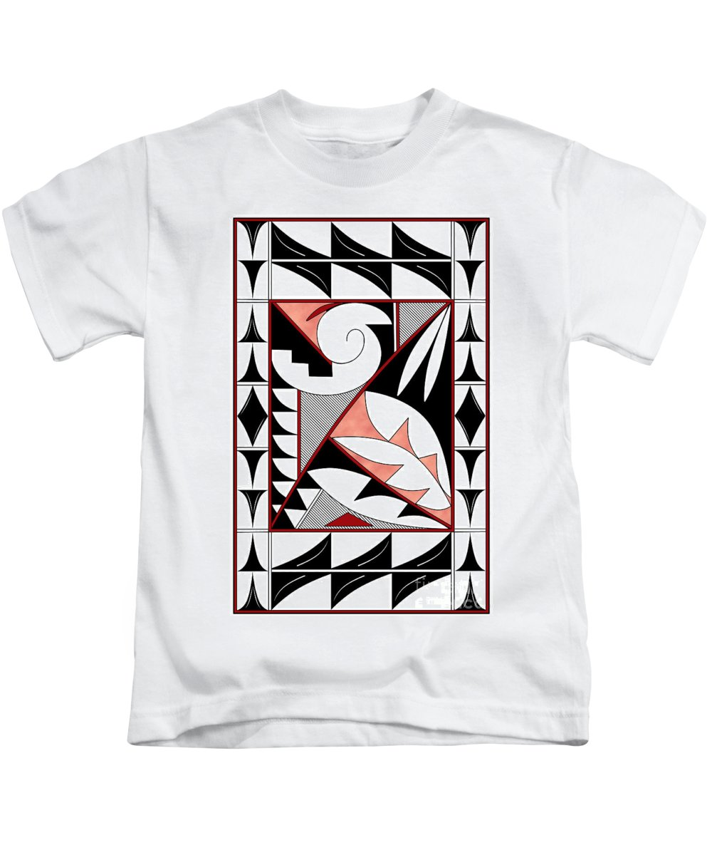 Southwest Kids T-Shirt featuring the digital art Southwest Collection - Design Four In Red by Tim Hightower