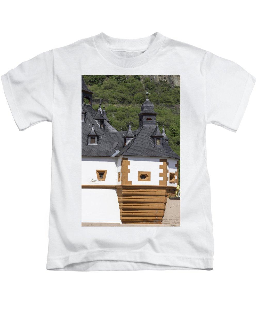 Teresa A Mucha Kids T-Shirt featuring the photograph Detail Of Burg Pfalzgrafenstein by Teresa Mucha