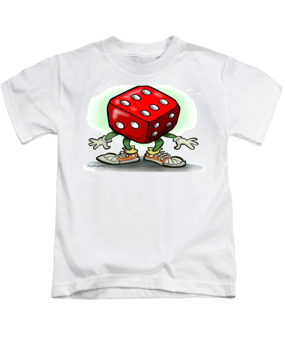 Dice Kids T-Shirt featuring the greeting card Dice by Kevin Middleton