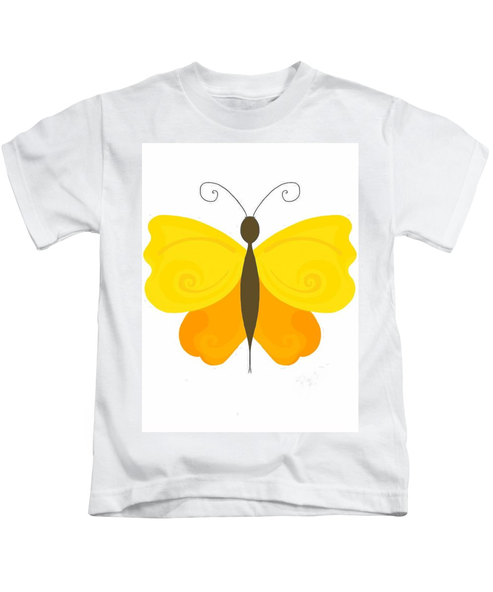 Butterfly Kids T-Shirt featuring the photograph Digital Butterfly by Perggals - Stacey Turner