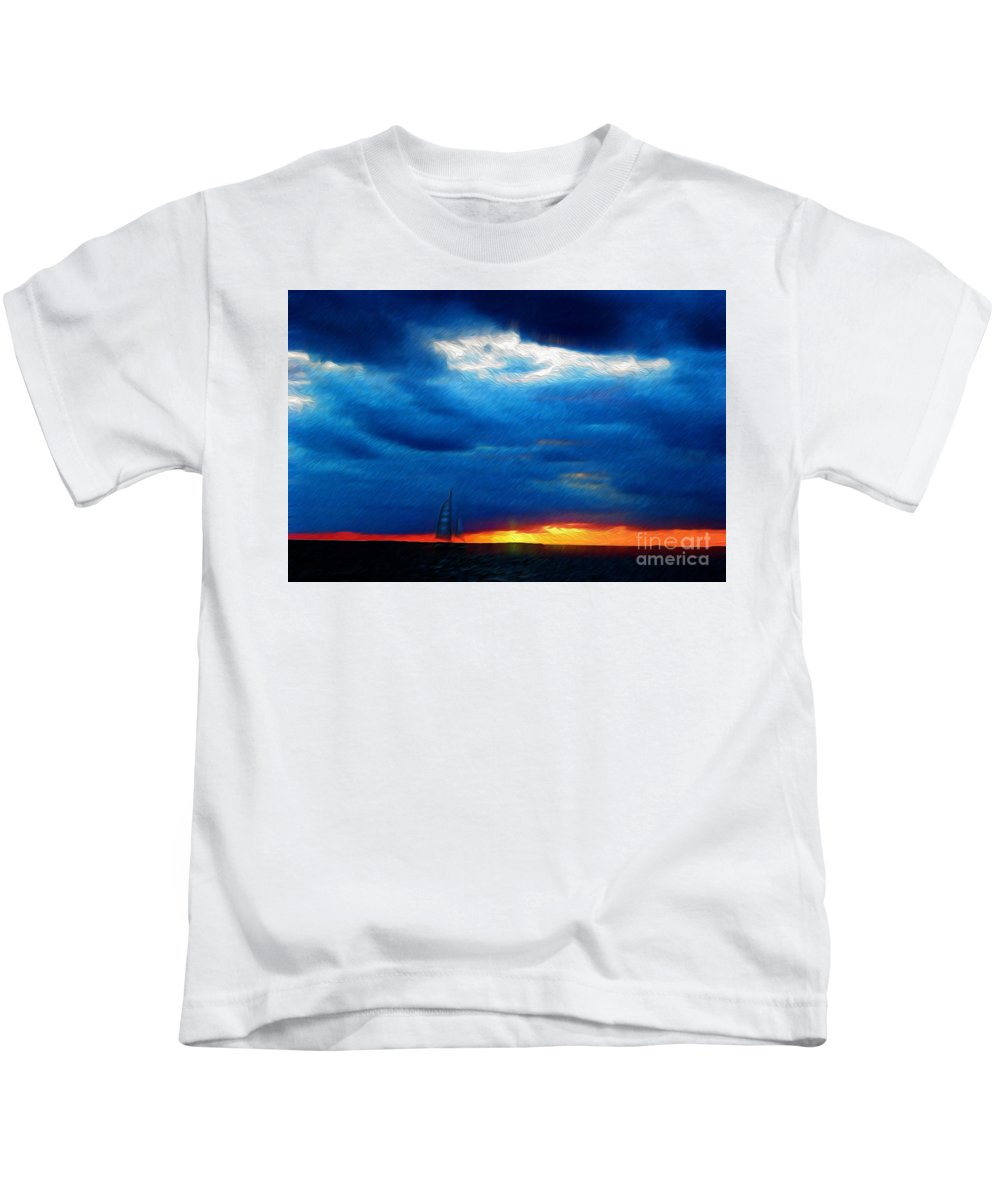 Paintings Photos Drawings Digital Art Mixed Media Painters Illustrators Photographers Digital Artists Abstract Architecture Fantasy Impressionism Landscape Portraits Science Fiction Still Life Surrealism Editorial Satire Statement Nature Artificial Mechanical Organic Kids T-Shirt featuring the mixed media Directionless Familiar I by Kevin Keeling