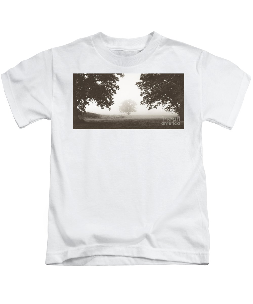 Aeon Kids T-Shirt featuring the photograph Distant Silence by Aeon Art