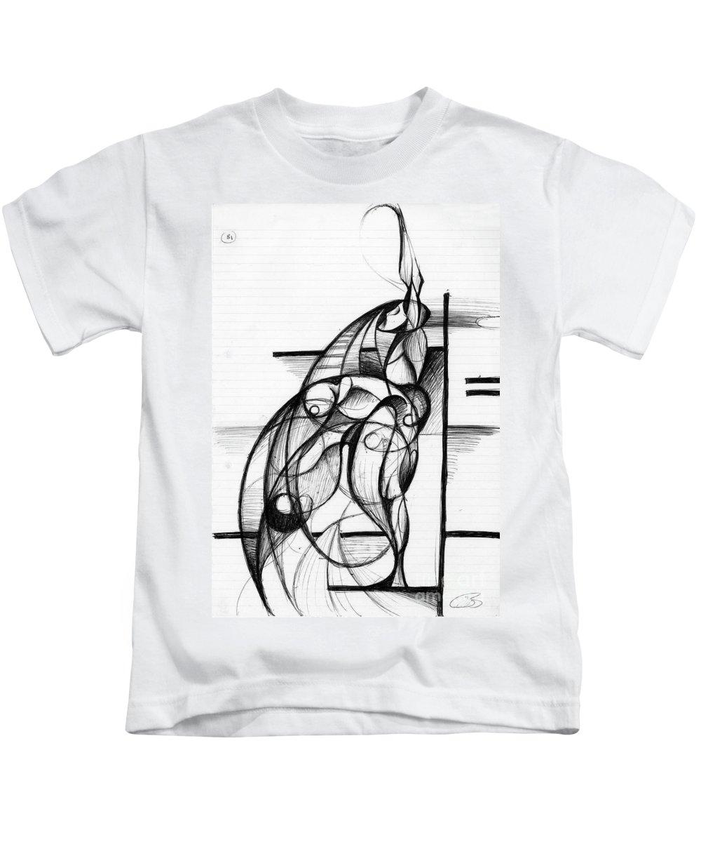 Fluidism Kids T-Shirt featuring the digital art Diver by Nicholas Burningham