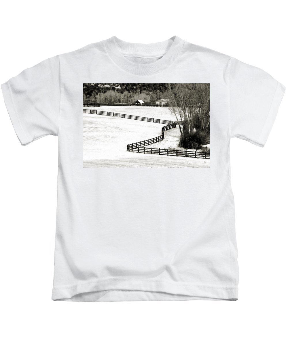 Americana Kids T-Shirt featuring the photograph Dividing Lines by Marilyn Hunt
