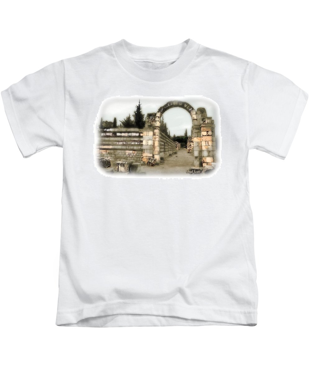 Arcade Kids T-Shirt featuring the photograph Do-00309 Arcade In Anjar by Digital Oil