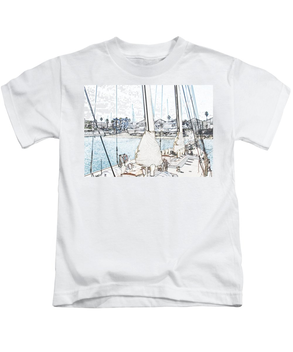 Bermuda Kids T-Shirt featuring the photograph Docked by Ian MacDonald