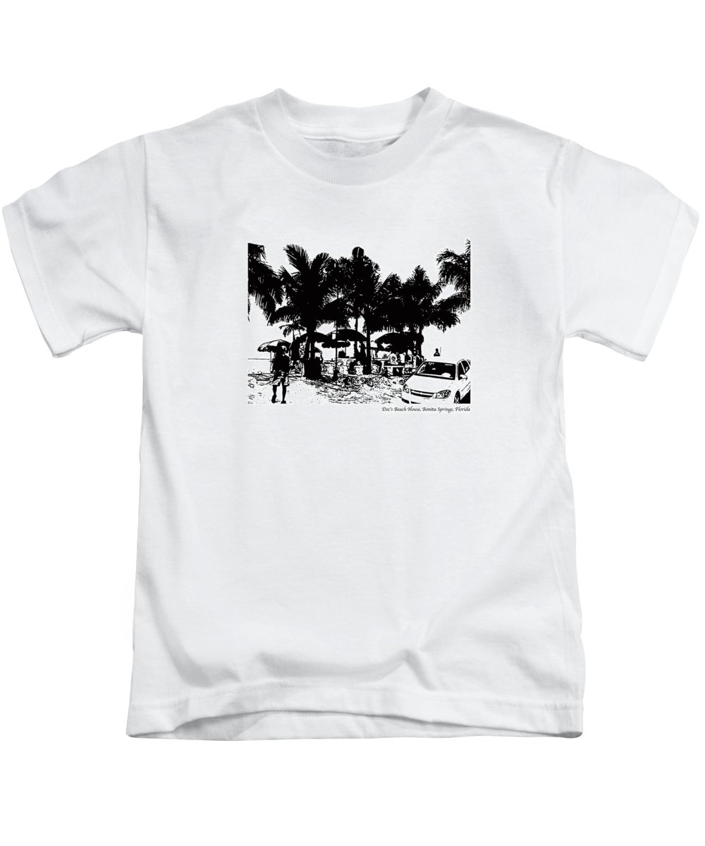 Beach Kids T-Shirt featuring the photograph Doc's Beach House by Laurie Paci