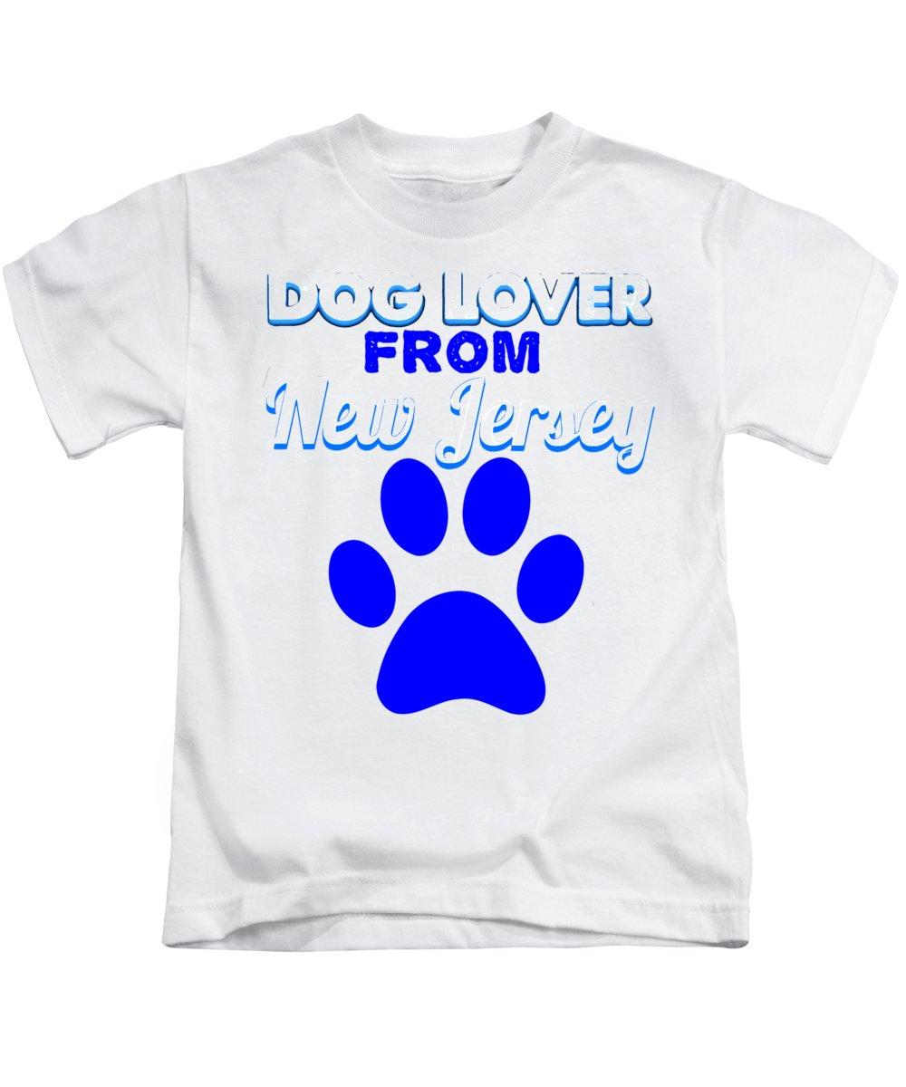 Beagle Kids T-Shirt featuring the digital art Dogloverfrom Newjersey by Kaylin Watchorn