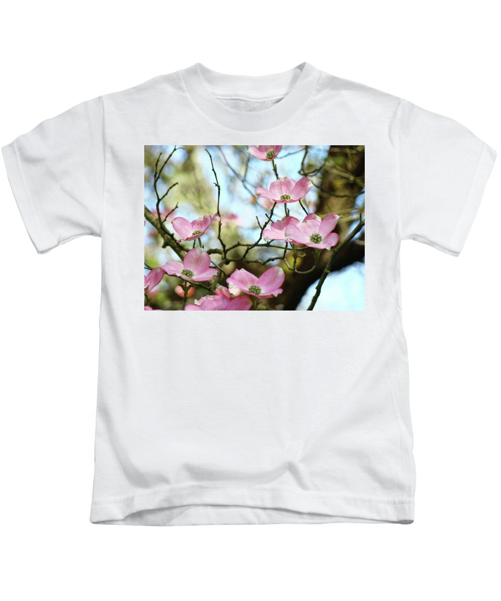 Dogwood Kids T-Shirt featuring the photograph Dogwood Flowers Pink Dogwood Tree Landscape 9 Giclee Art Prints Baslee Troutman by Baslee Troutman