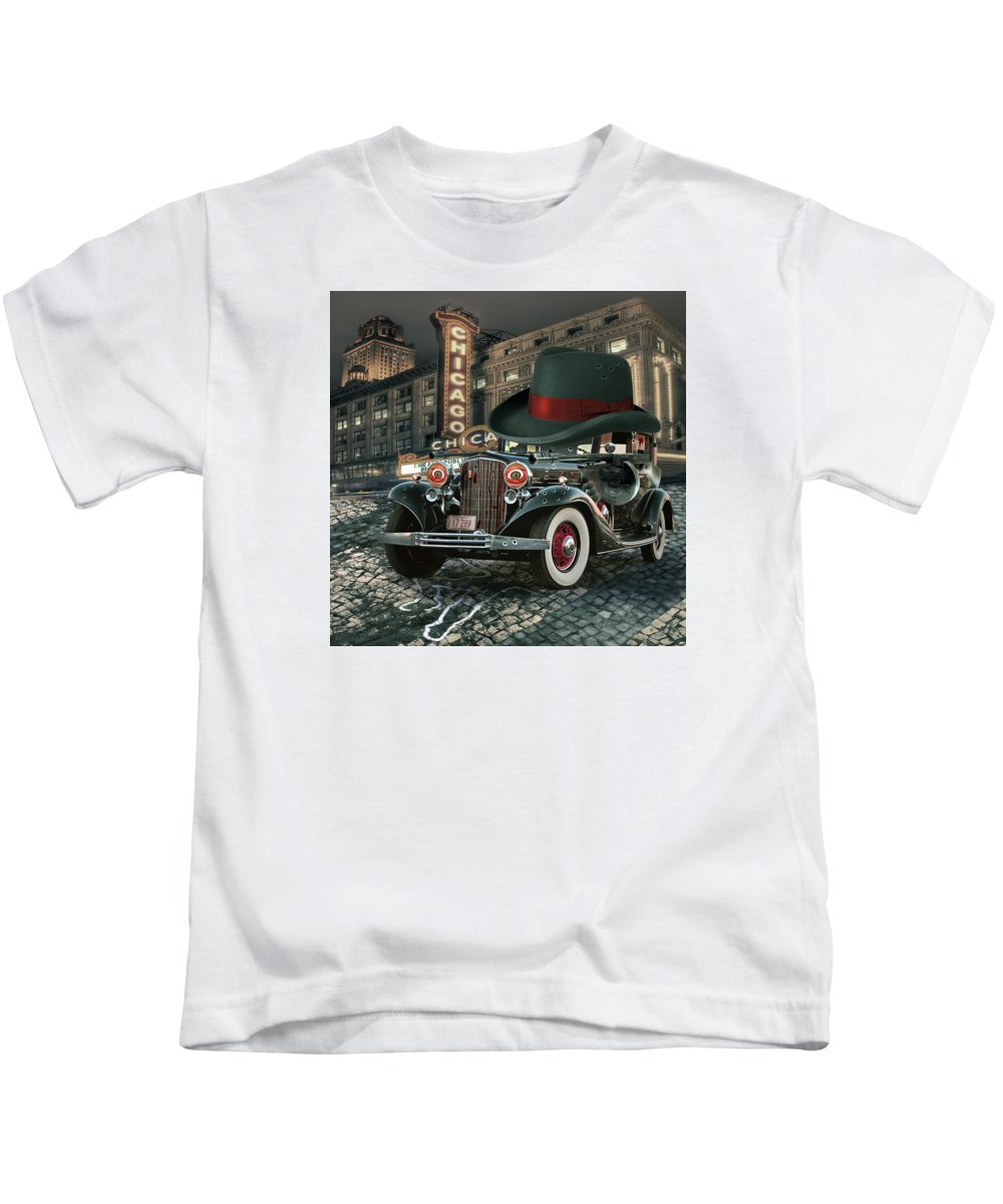 American Kids T-Shirt featuring the digital art Don Cadillacchio by Marian Voicu