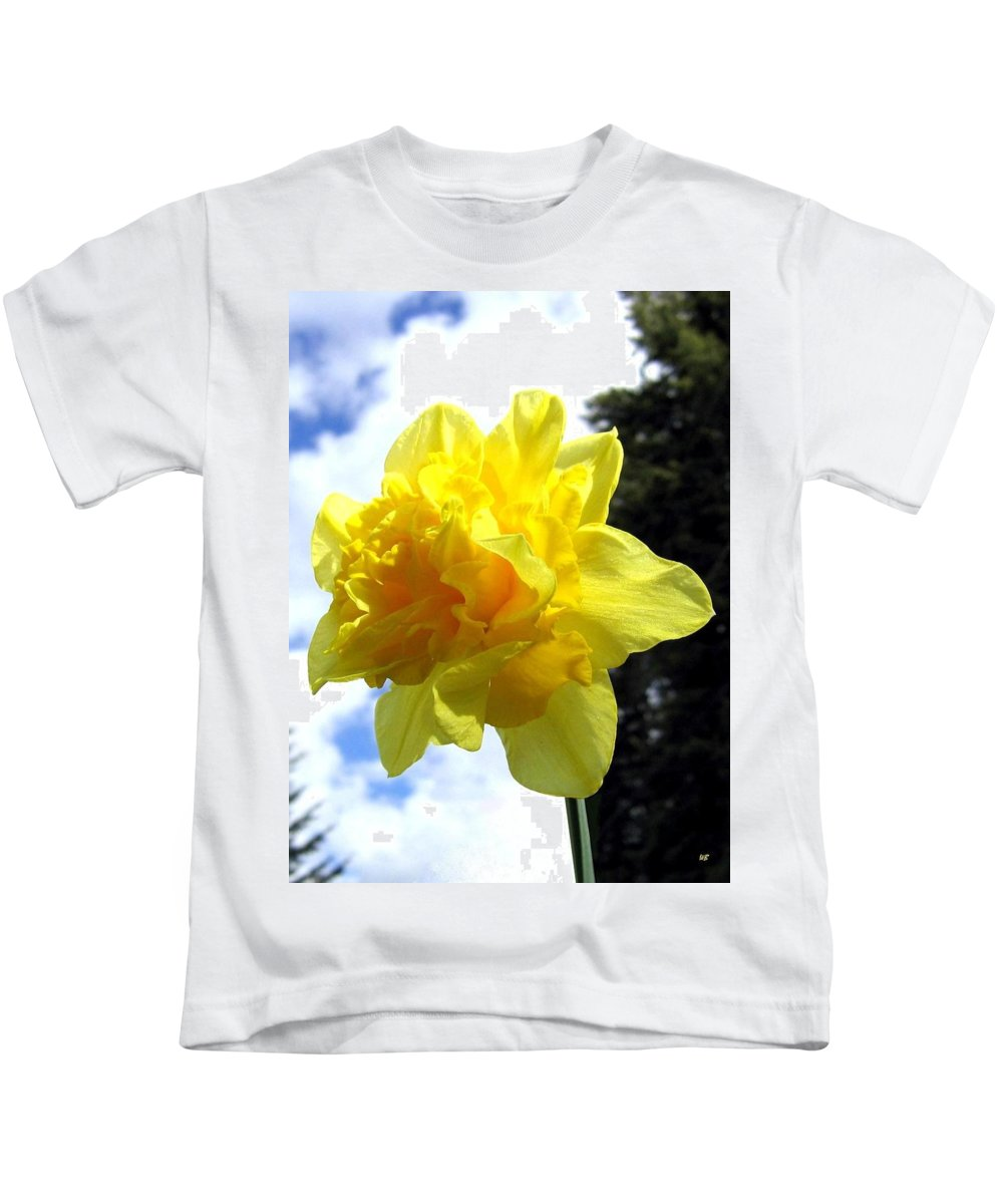 Daffodil Kids T-Shirt featuring the photograph Double Daffodil by Will Borden