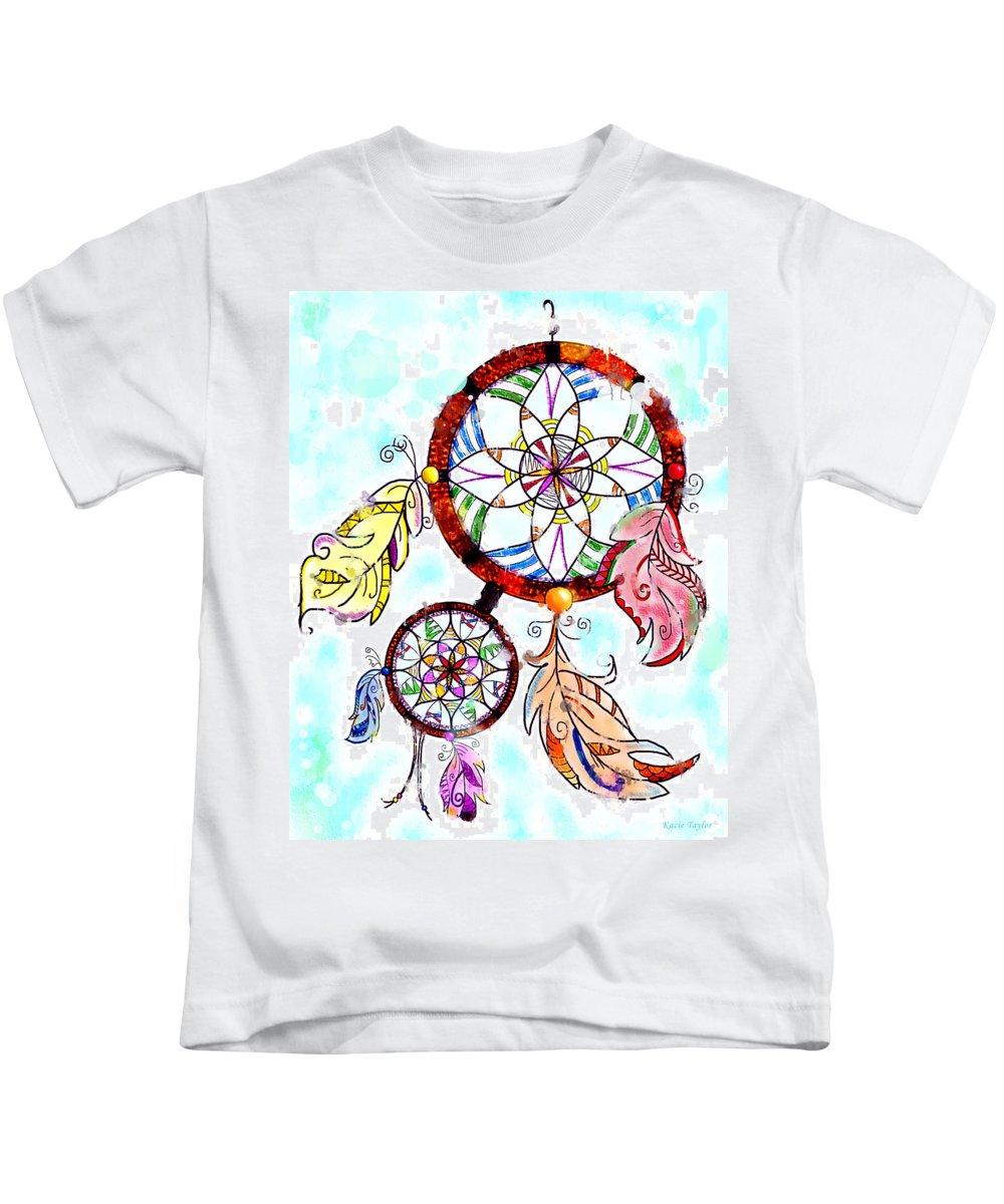 Dream Catcher Kids T-Shirt featuring the digital art Dream Catcher by Kacie Taylor