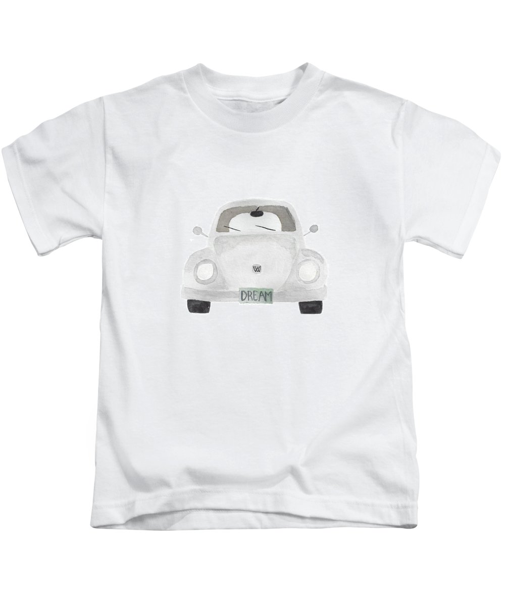 Dream Kids T-Shirt featuring the painting Dream Inspiration Bug by Terilyn Hernandez