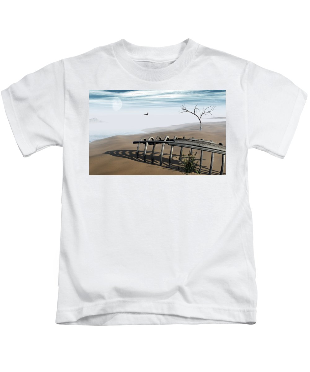 Surreal Kids T-Shirt featuring the digital art Dream Lake by Richard Rizzo