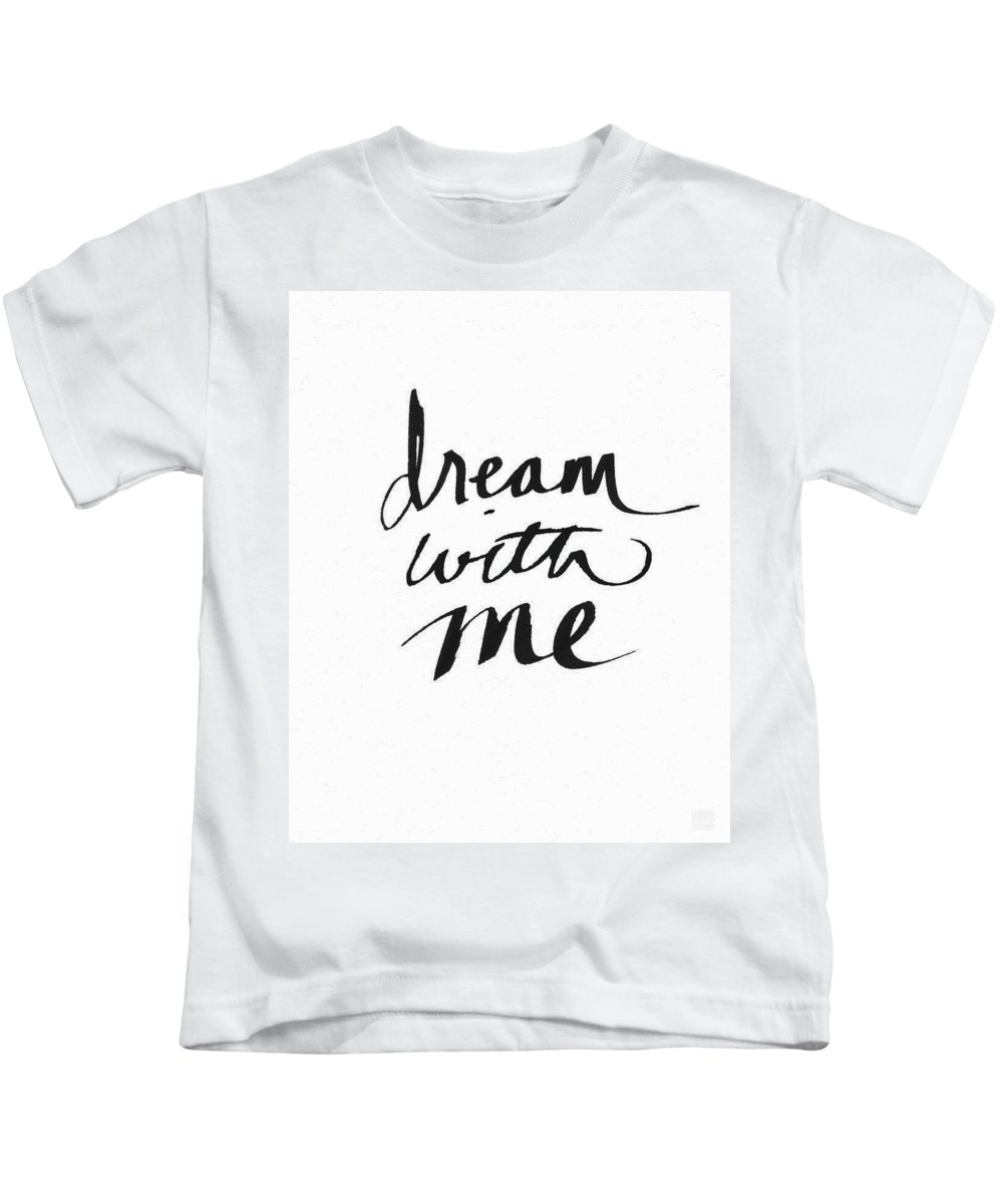 Dream Kids T-Shirt featuring the painting Dream With Me- Art By Linda Woods by Linda Woods